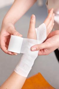 包帯の固定の技術が高い